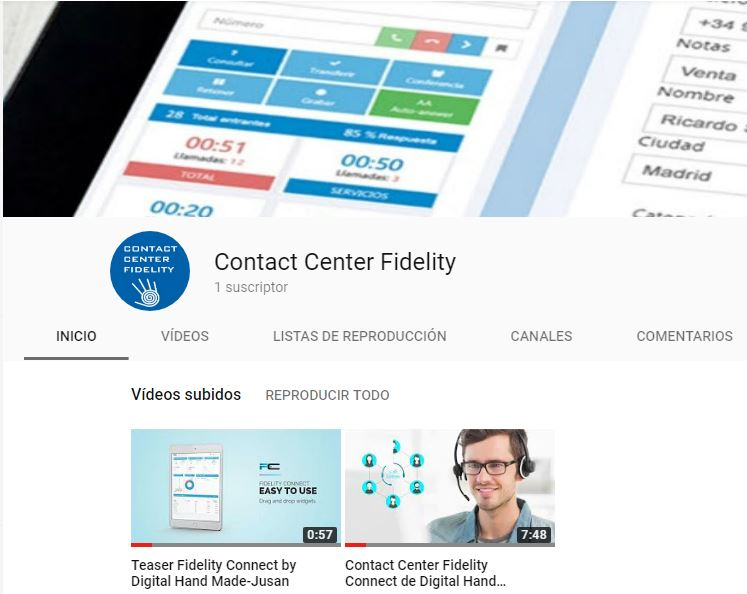 Estrenamos canal de Youtube de Contact Center Fidelity